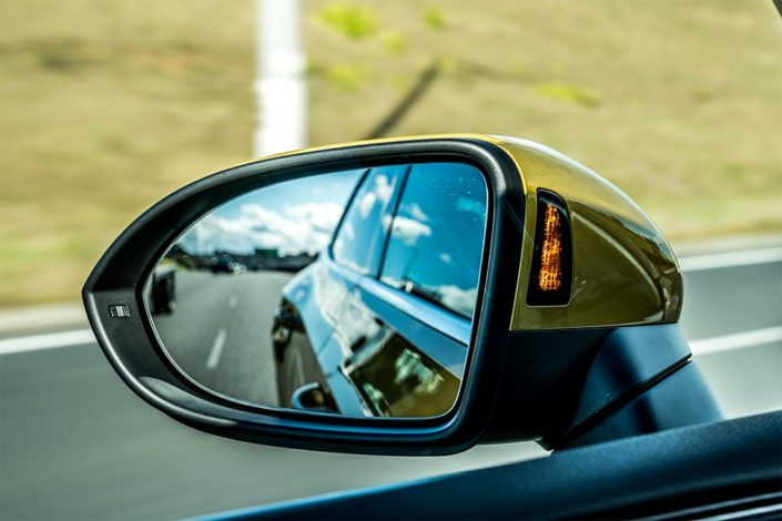 Arteon's blind-spot monitor on wing mirrors.
