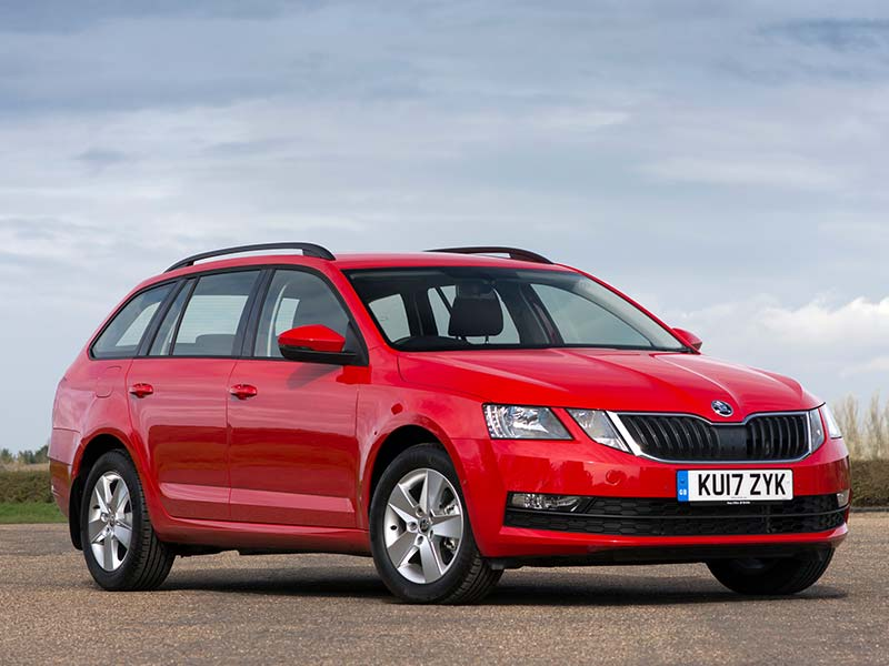 Octavia wagon in red
