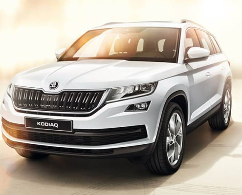 ŠKODA Kodiaq SUV in white
