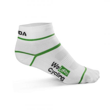 ŠKODA Cycling Socks in White