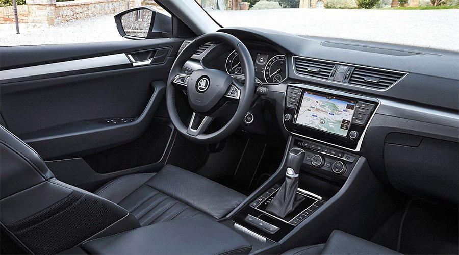 Skoda Superb Interior Dashboard - Miles Continental