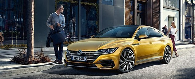 2017 Volkswagen Arteon in gold on a street