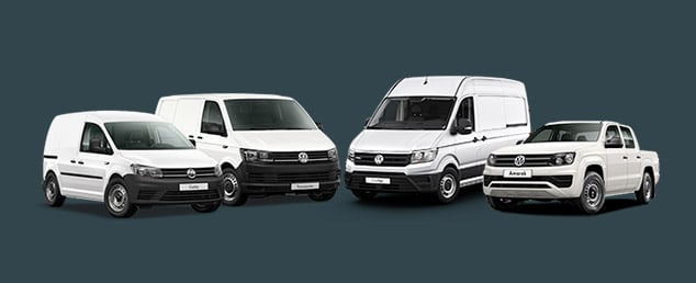 Volkswagen commercial vehicle line-up, vans and utes.