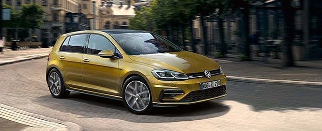 2017 Volkswagen Golf in gold
