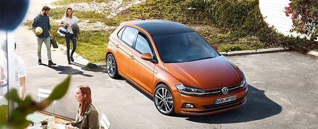 2018 Volkswagen Polo hatch in orange